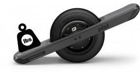 onewheel weight limit